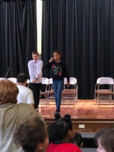 Martin Gehrke and Melanie Fisher - spelling bee winners at Seth Boyden