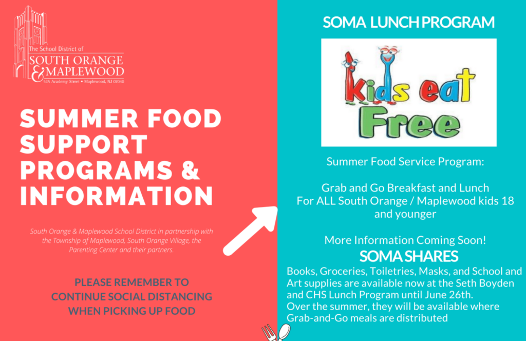 summer food support flyers