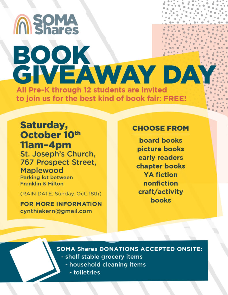 SOMA Shares Book Giveaway Day Flyer